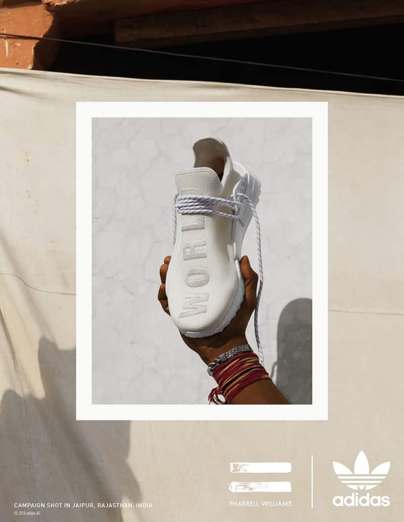 Pharrel x adidas NMD Hu Holi Blank Canvas