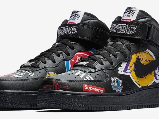Supreme x Nike Air Force 1 Mid '07 NBA Logos