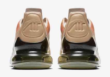 Nike Air Max 270 beige, marron et vert olive