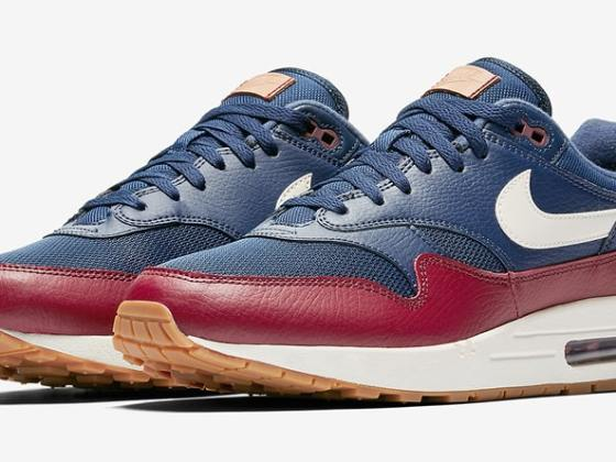 Nike Air Max 1 Premium Navy/Deep Red