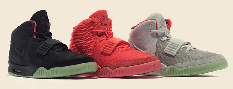 Les 3 coloris originaux de la Nike Air Yeezy 2