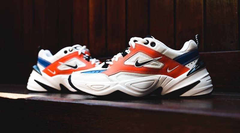 Nike M2K Tekno - Summit White & Team Orange & Mountain Blue