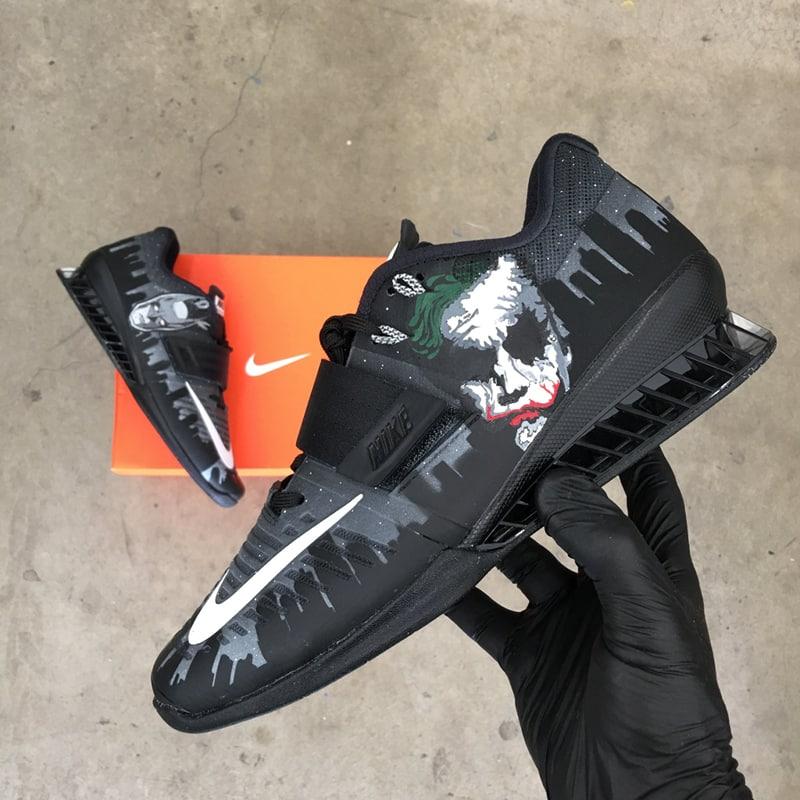 "Nike Romaleos 3 custom ""Batman Joker"" by B Street Shoes"