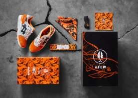 Afew x BEAMS x ASICS Gel Lyte III ''Orange KOI''