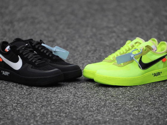 Off-White x Nike Air Force 1 Low ''Volt'' & ''Black''