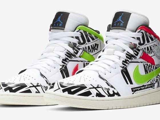 Air Jordan 1 Mid ''Overbranded''