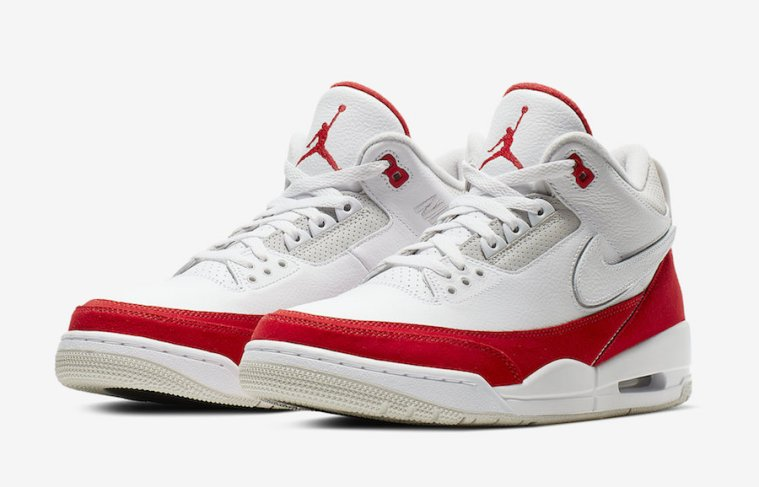 Air Jordan 3 Tinker ''White/University Red''