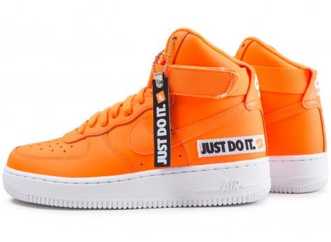 Nike Air Force 1 High LX Leather JDI orange femme