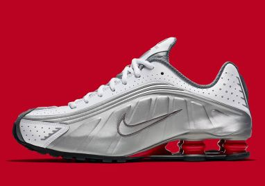 Nike Shox R4 OG ''White/Metallic Silver/Comet Red''