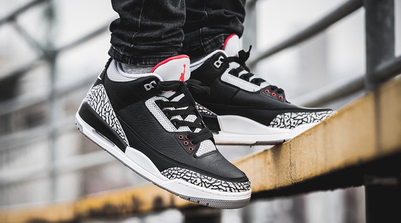 """La Air Jordan 3 """"Black Cement"""" de 1988"""