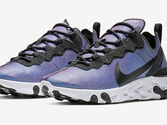 Nike React Element 55 PRM ''Black/Laser Fuchsia''