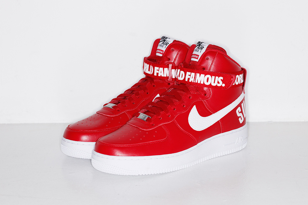 SUPREME x Nike Air Force 1 High ''World Famous'' - Red