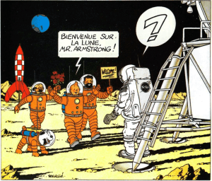 Tintin-and-Neil-on-the-Moon