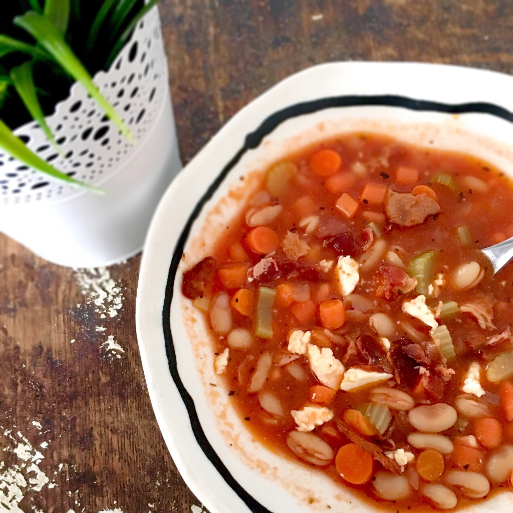 Tomato, Bacon & Bean Soup