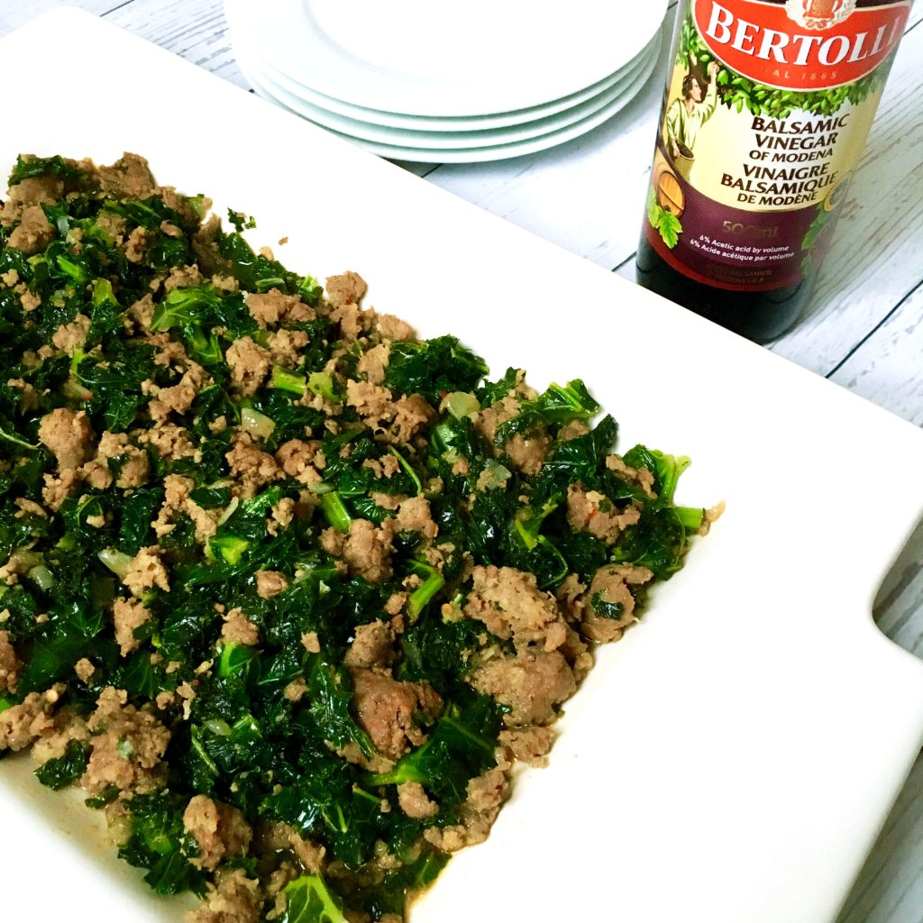 balsamic kale with italian sausage