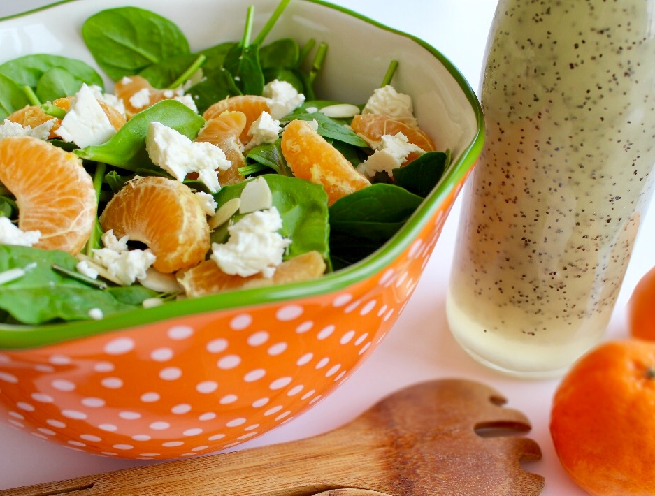 Winter Salad with Mandarin Oranges and Poppy Seed Dressing
