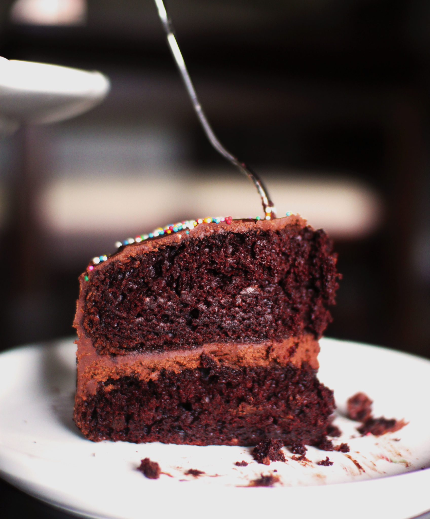 Decadent Double Chocolate Cake