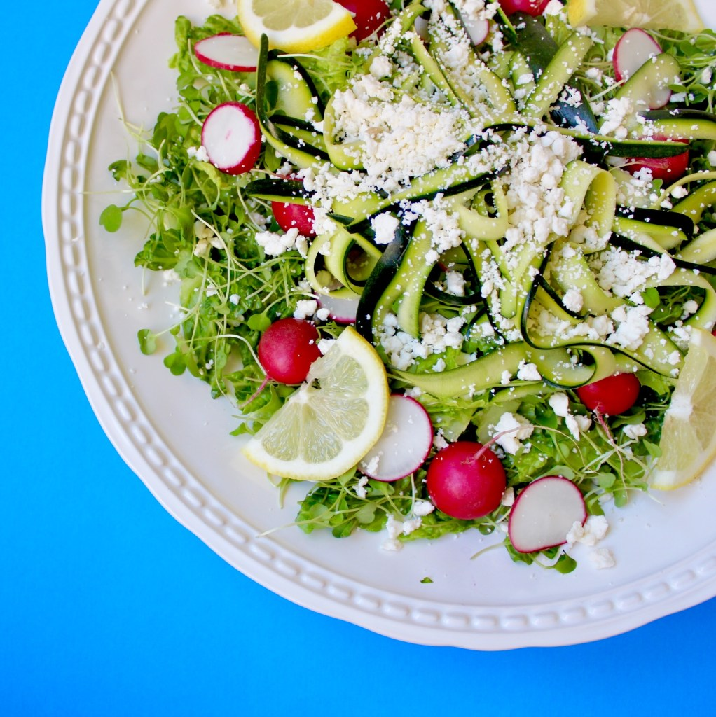 Spring Salad with Arugula, Zucchini, and a Lemon Dressed