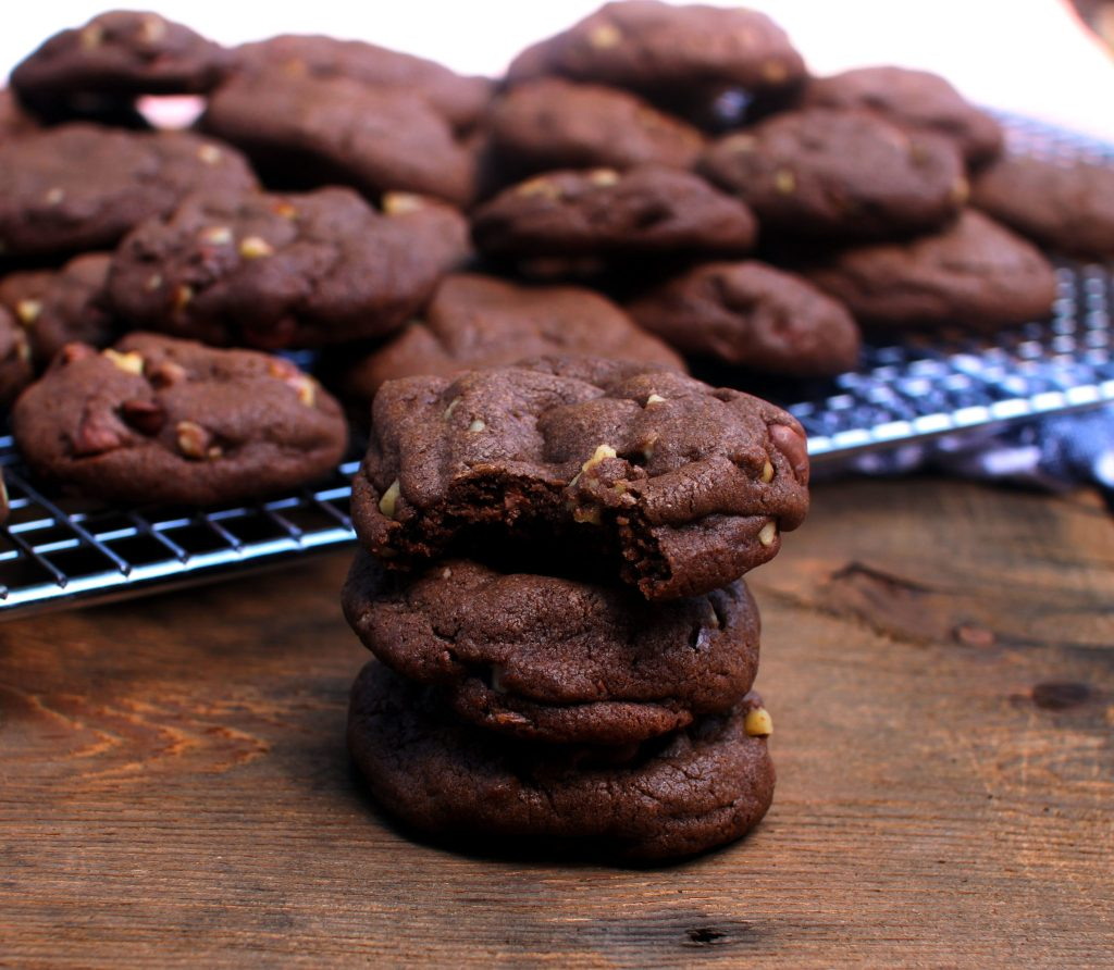 Double Chocolate Chip and Wheat Germ Cookies