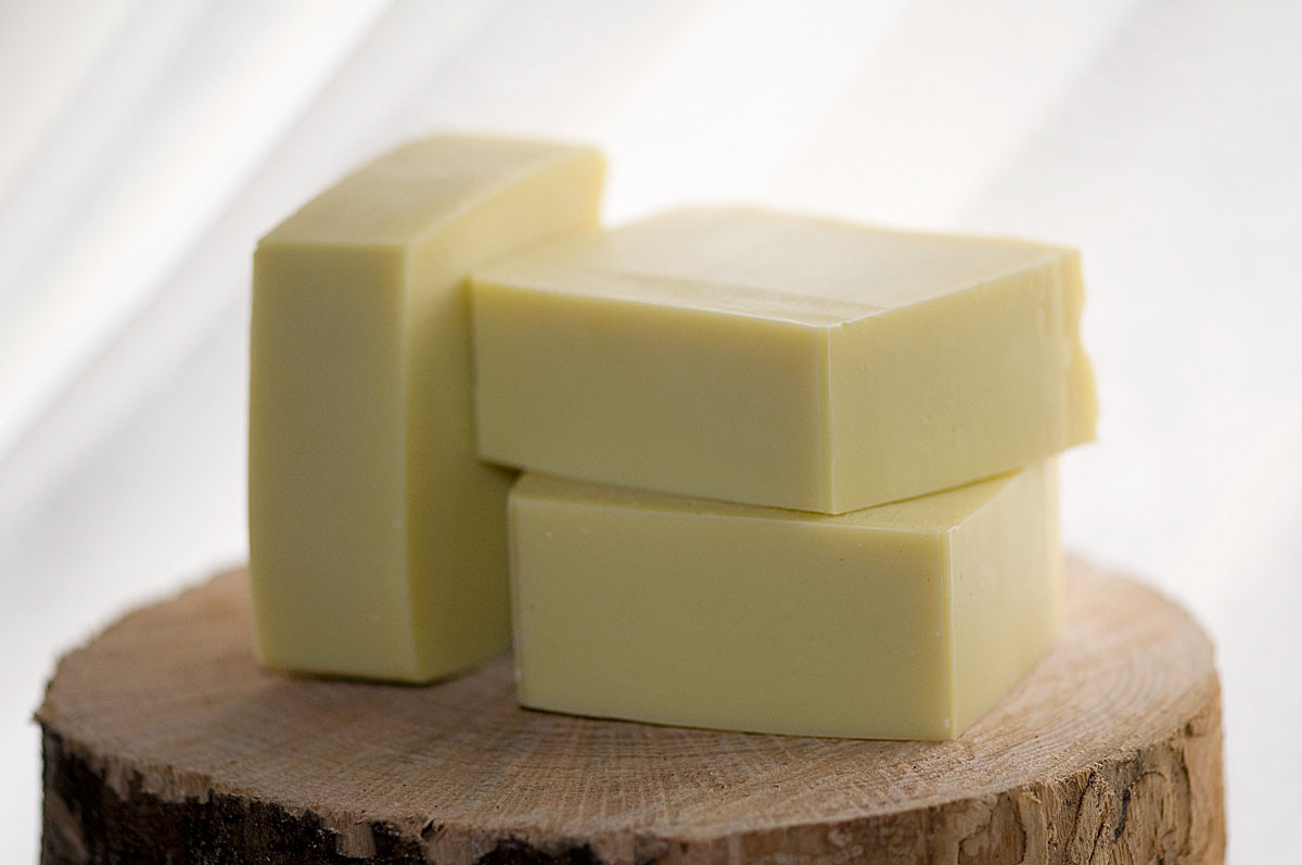 Clean cured bars of handmade soap