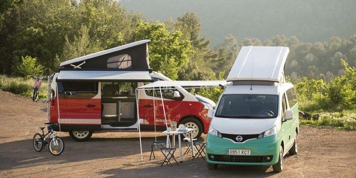 Op de autosalon van Madrid presenteert Nissan een elektrische camper op basis van de e-NV200