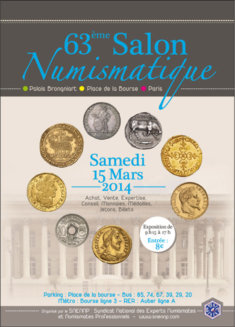 63 ème salon numismatique