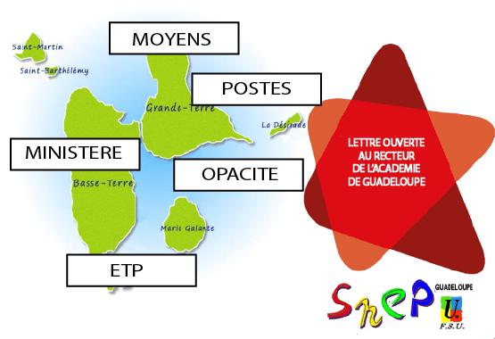 Lettre ouverte de la FSU concernant les moyens attribués à l'académie de Guadeloupe