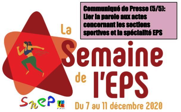 CP SNEP-FSU Guadeloupe (5/5): <br>Une semaine de l'EPS pour lier la parole aux actes concernant les sections sportives scolaires et la spécialité EPS