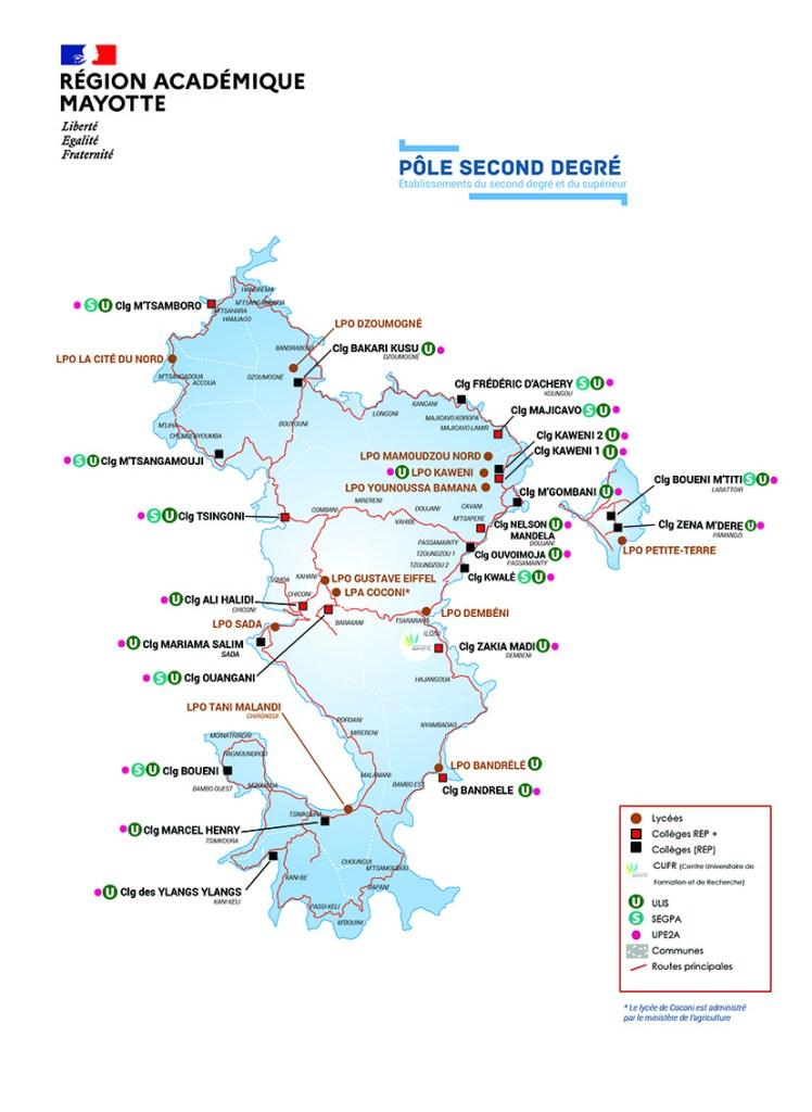 Carte des établissements scolaires