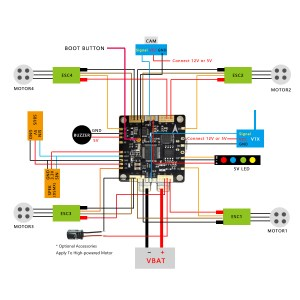 SN Hobbies  HGLRC F3 AIO V31 FC PDB OSD  CURRENT SENSOR  8MB FLASH  5V12V BECS