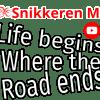 Snikkeren MC Sticker Life Begins Where The Road Ends