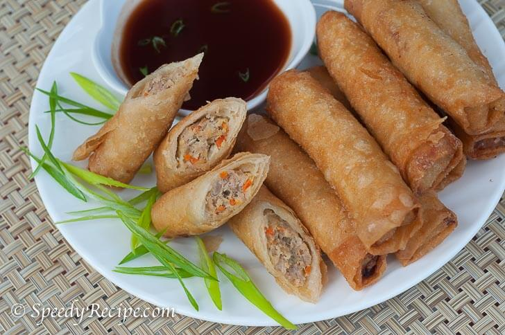 Filipino-Lumpiang-Shanghai-with-Sweet-and-Sour-Sauce