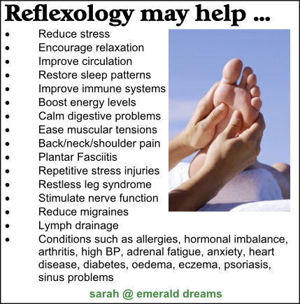 Reflexology may help with