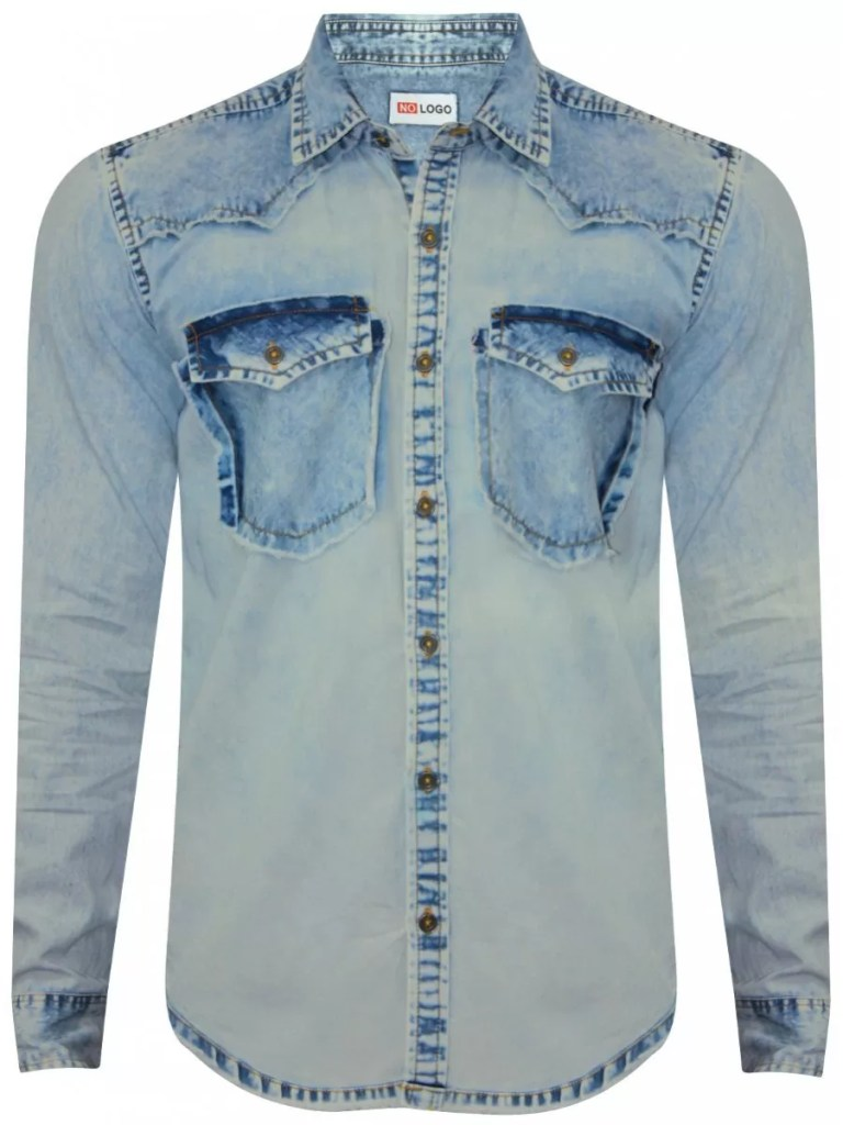 2019 Latest Design Custom Made Tailor Made Denim Shirt for Men