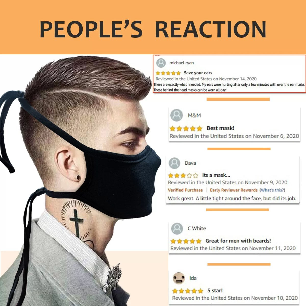 reviews about our head strap mask