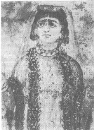 Изображение женщины-христианки из катакомб. Иордания. III в. н.э.