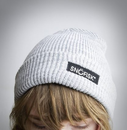 Snofisk beanie being worn.