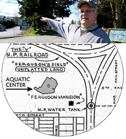 Bruce Ferguson, Ferguson Farm map
