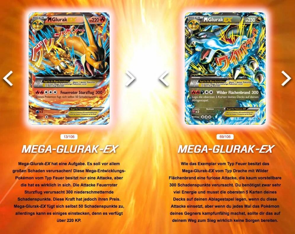 Pokemon Sammelkartenspiel-Erweiterung XY bringt Glurak-Ex