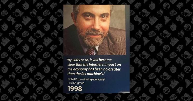 Image result for krugman internet