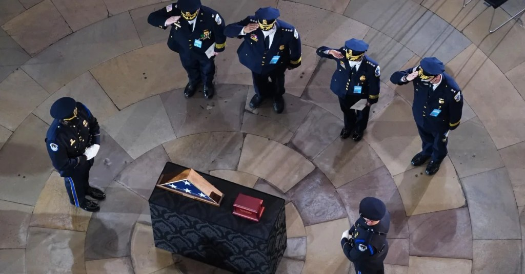 Capitol Police Officer Brian Sicknick's mom says son died of a stroke, not a blow to the head — but authorities are staying mum