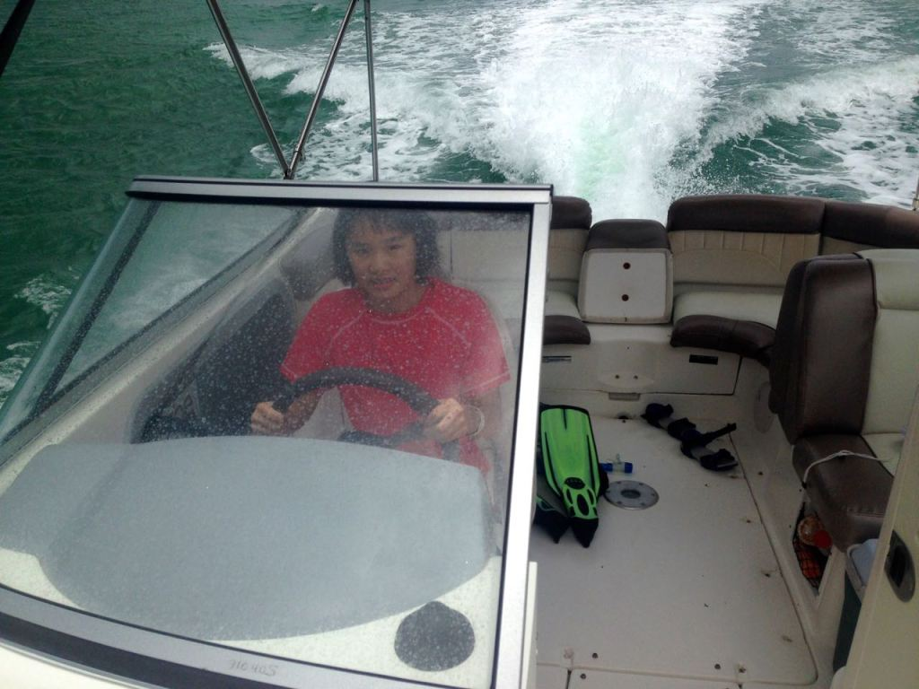 Zoe in Bon Accord Lagoon