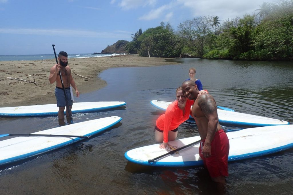 River mouth Stand up paddle lesson