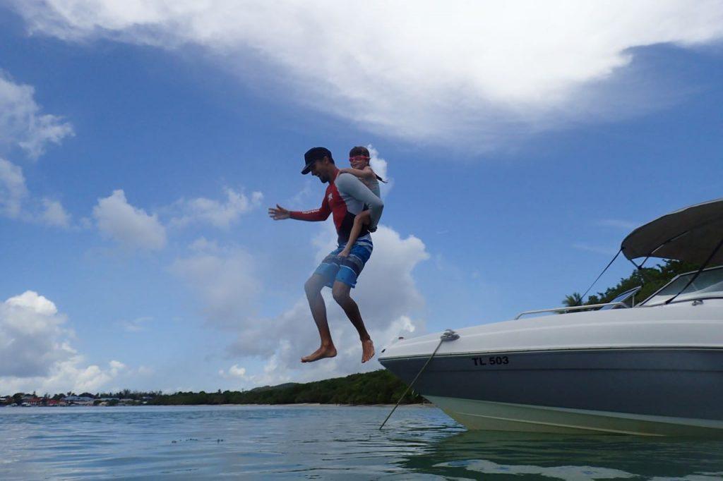 Boat Jumping Zoe Tobago