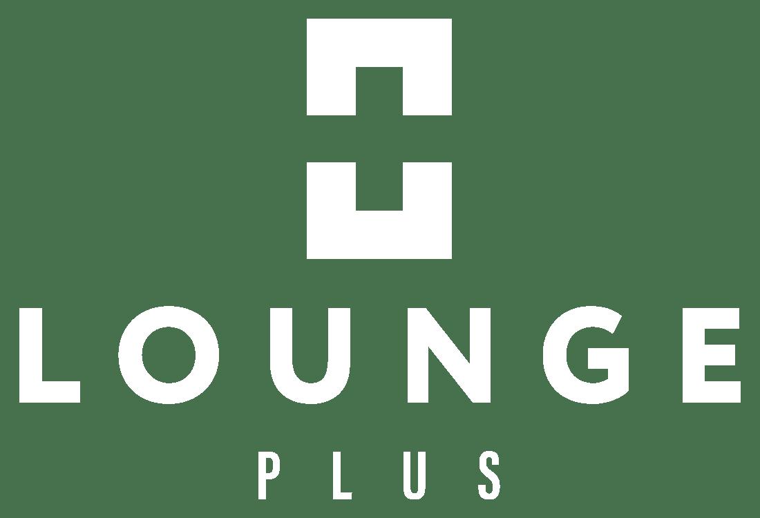 LoungePlus logo verticaal wit