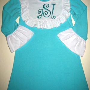 Teal Bib Dress