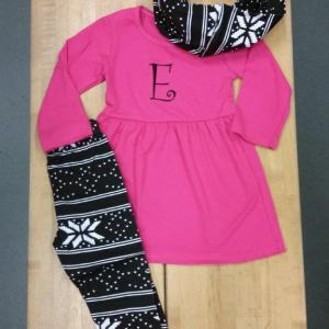 Hot Pink & Black Aztec Legging Set