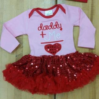 Red Daddy Plus Me Tutu Set