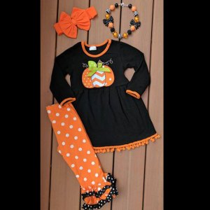 Black Pumpkin Tunic & Pants Set
