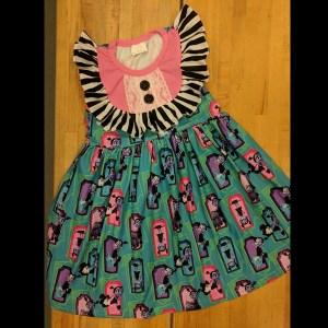Pink & Black Vamparina Dress